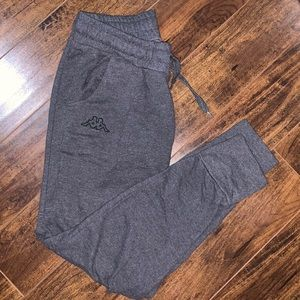 Charcoal Gray Kappa Sweat Pants